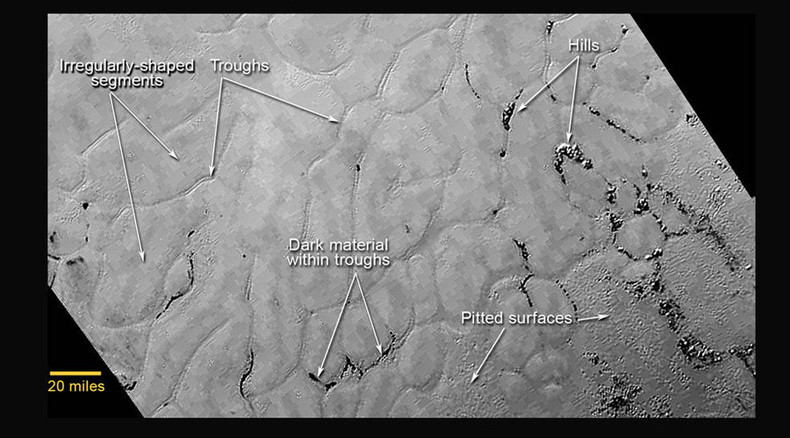 Mystery terrain in Pluto's icy 'heart' revealed in latest New Horizons close-up image