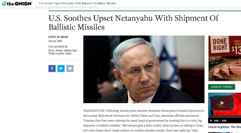 Spoof made real: The Onion jokes on US offering missiles to Israel, turns out true