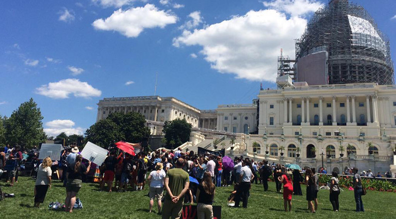 Arizona Apache tribe protests burial ground land-swap at US Capitol