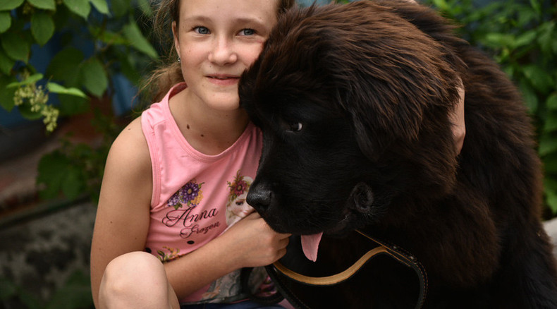Putin makes Kyrgyz girl's wish come true, gives rare dog as gift