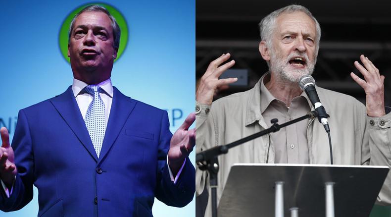 'At least he's a socialist': Nigel Farage backs Jeremy Corbyn for Labour leadership