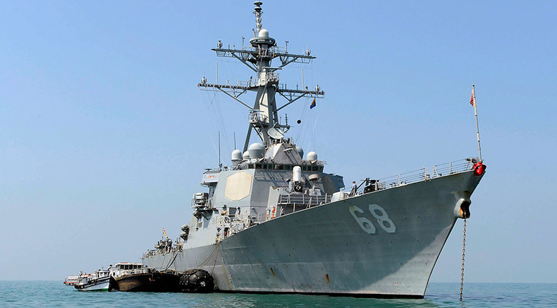 US Navy destroyer damaged by missile explosion during exercise