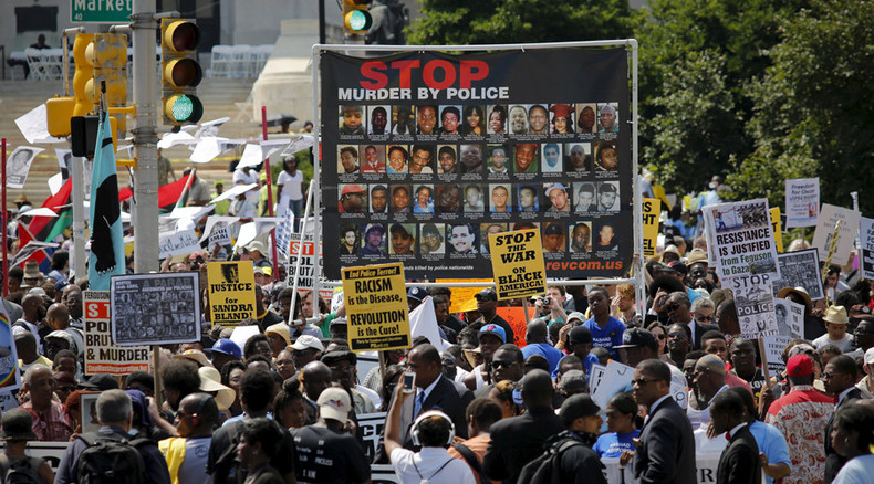 Hundreds protest in New Jersey to highlight US police brutality