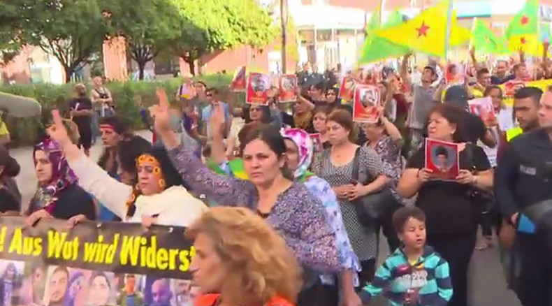 Pro-Kurdish rallies hit European capitals following Turkish bombing raids