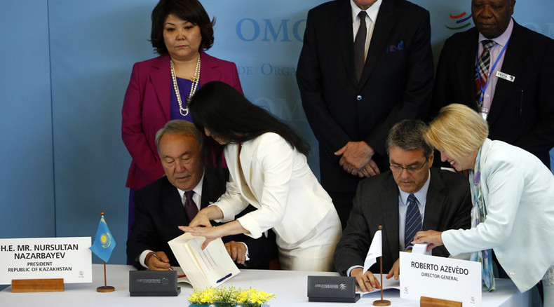 Kazakhstan joins World Trade Organization