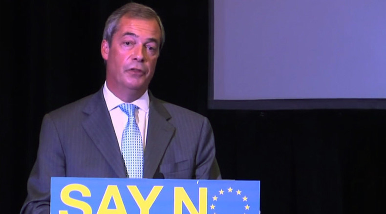 'If Britain stays in EU, we'll end up with euro' - Farage