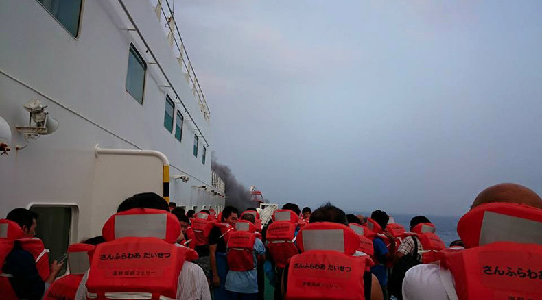 Ferry fire threatens some 100 on board in northern Japan