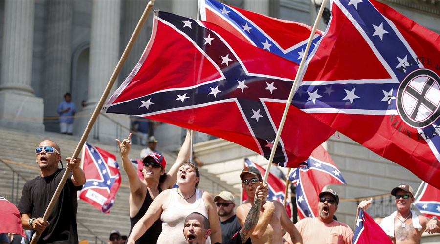 KKK face off against Black Panthers at Confederate flag protest in S. Carolina