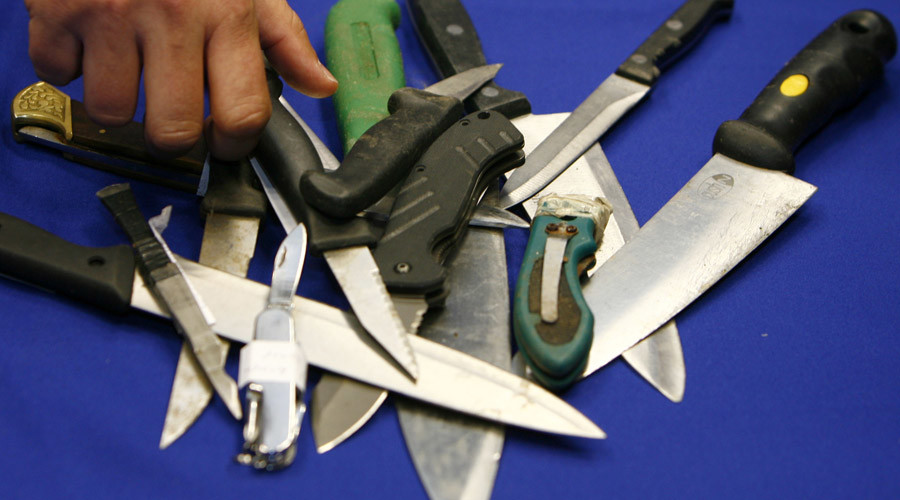 Machete, knife cache uncovered in London as bladed weapon crimes rise