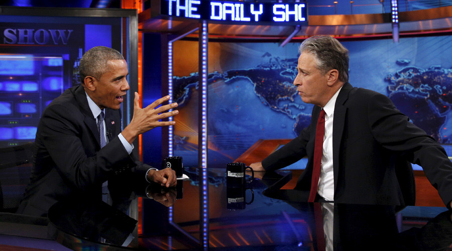 'Who are we bombing?' Jon Stewart grills Obama over Iran deal