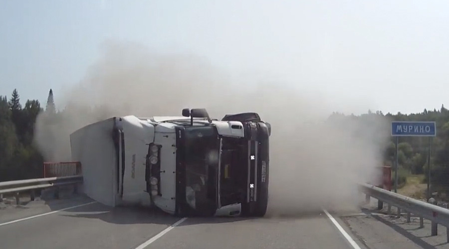 Final Destination-style crash in Russia had witness screaming with fear (VIDEO)