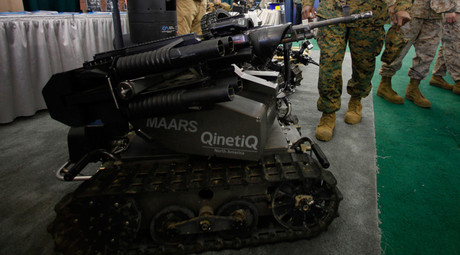 Modular Advanced Armed Robotic System shown at the Marine West Military Expo at Camp Pendleton, California. © Mike Blake