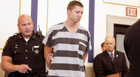 Former University of Cincinnati police officer Ray Tensing enters Hamilton County Common Pleas Court to be arraigned on murder charges July 30, 2014 © Mark Lyons/