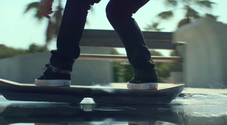 Easy rider: Much-anticipated Lexus hoverboard swooshes in action (VIDEO)
