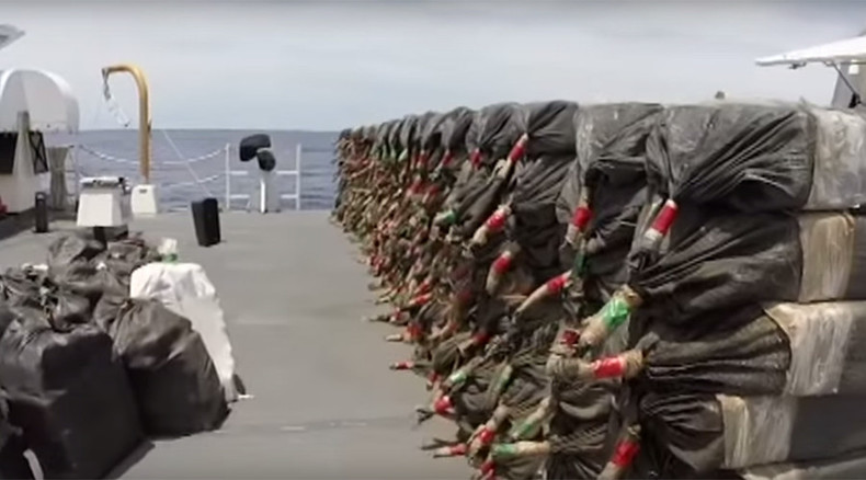 US Coast Guard loses 4,000 pounds of cocaine in successful raid on drug smuggling sub (VIDEO)