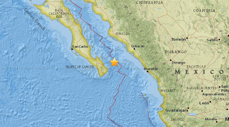5.3 quake in Mexico Sea of Cortez, 119km northeast of San Jose del Cabo - USGS