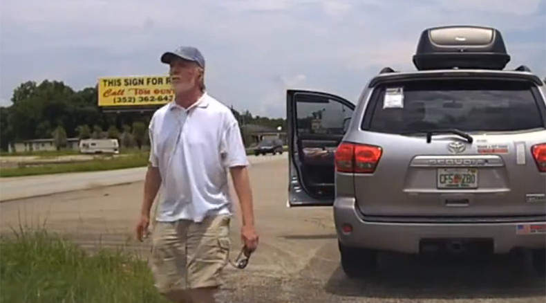 US policeman in assistance call Tases Florida man 'armed' with sunglasses (VIDEO)