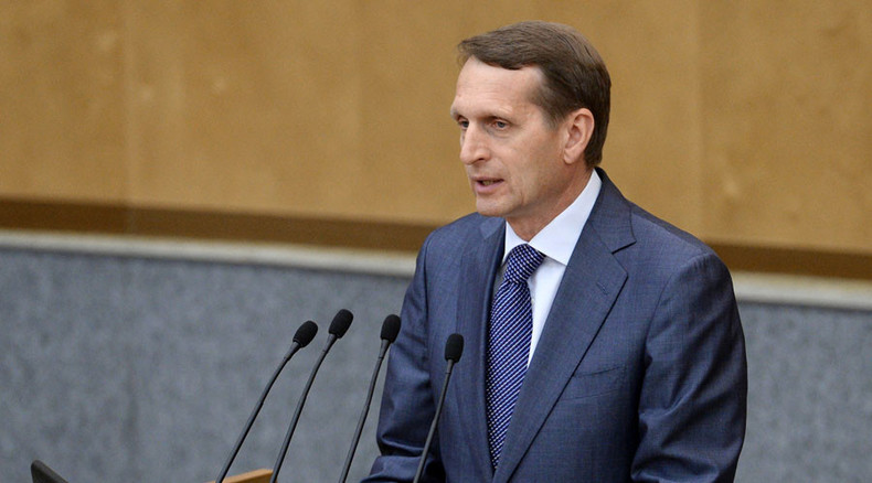 Duma chief blames US for instigating global instability through intrigue