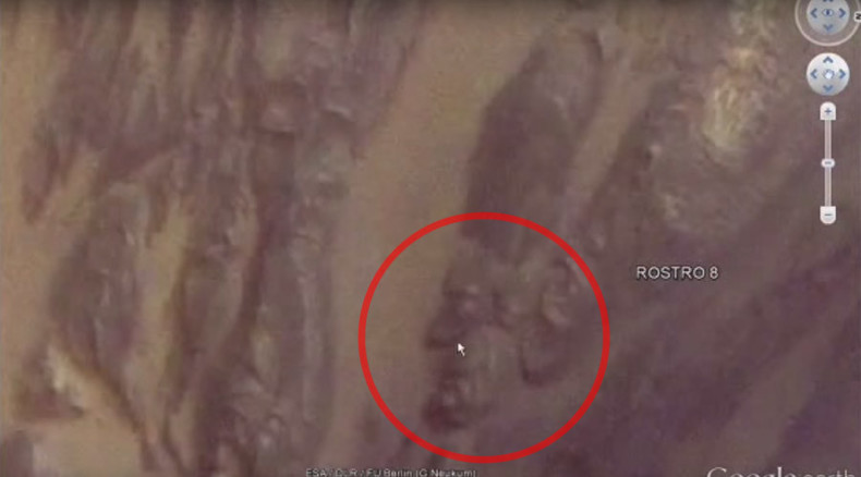 Google app lets UFO lover detect 'politician's face' on Mars