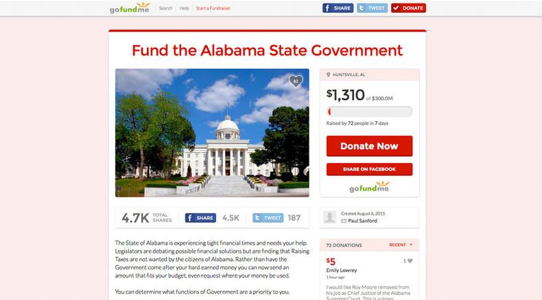 Southern Gimmick: Alabama senator starts GoFundMe page for state budget