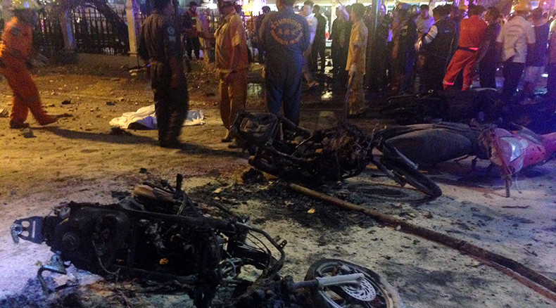 Bombing rocks tourist area in Bangkok, 22 dead & scores injured