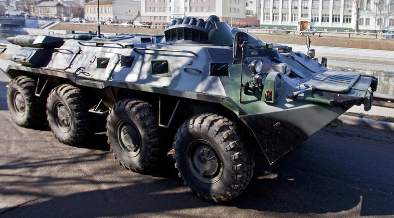 Drunken military rampage through Siberian city in armored vehicle (VIDEO)