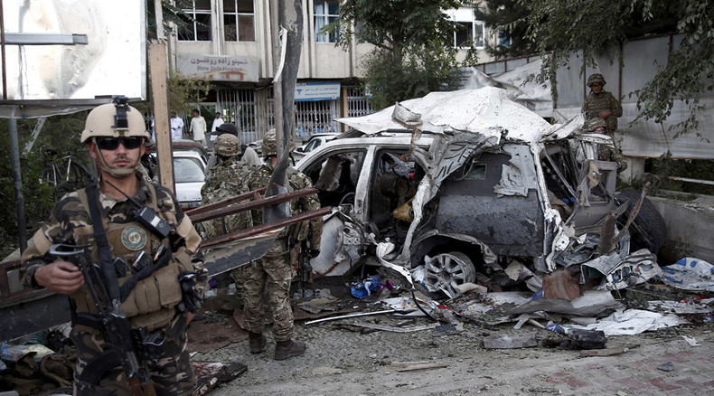 3 US contractors among 12 killed in car bombing targeting foreign convoy in Kabul