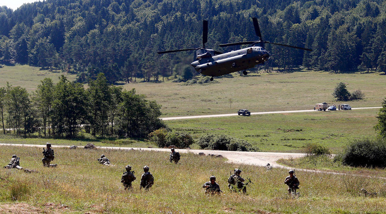 NATO stages huge airborne drill in Europe, says 'acting in purely defensive manner' (VIDEO)