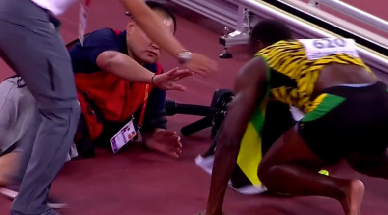 No one can beat Usain Bolt - except, perhaps, cameraman on Segway (VIDEO)