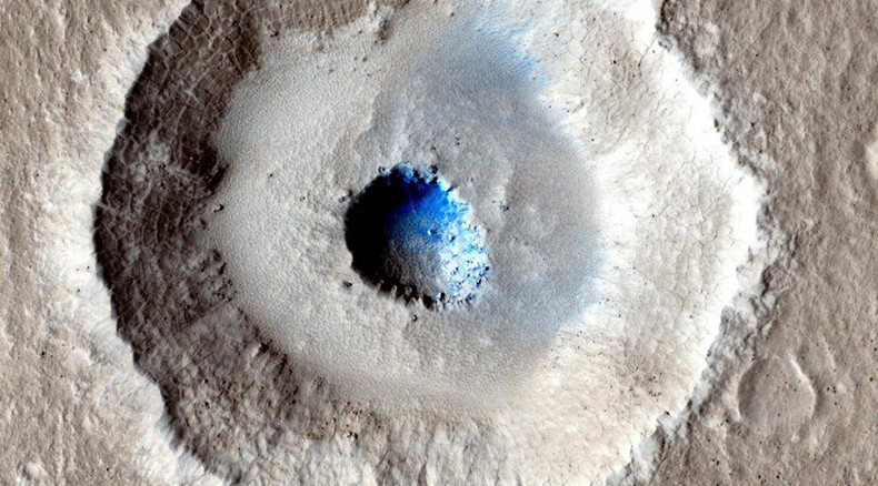 Bizarre Mars crater reveals huge slab of ice closer to surface than any seen before