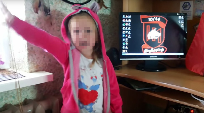 Shocking videos show 3yo girl making Nazi salutes, pledging to 'knife Russians'