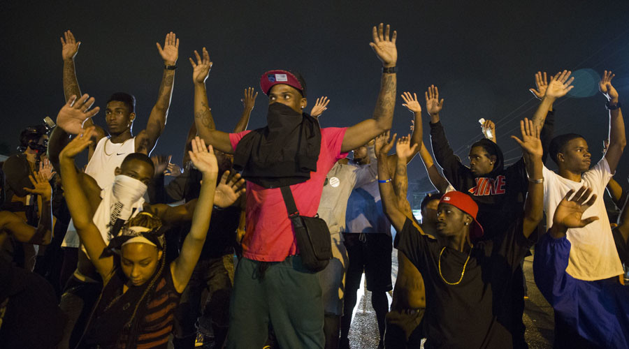 Year of protest: Ferguson erupts into rioting after white officer kills unarmed black teen (pt. 1)