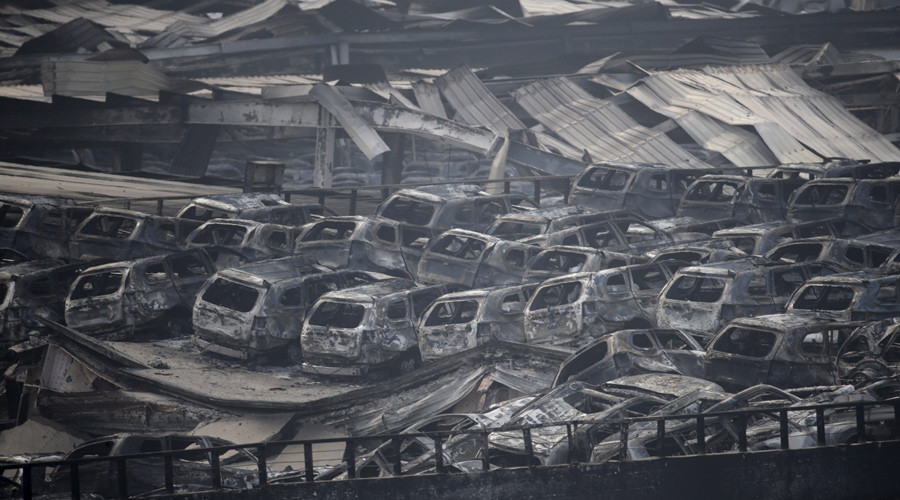 Apocalyptic scenes after Chinese port blast captured on film by drone (VIDEO)