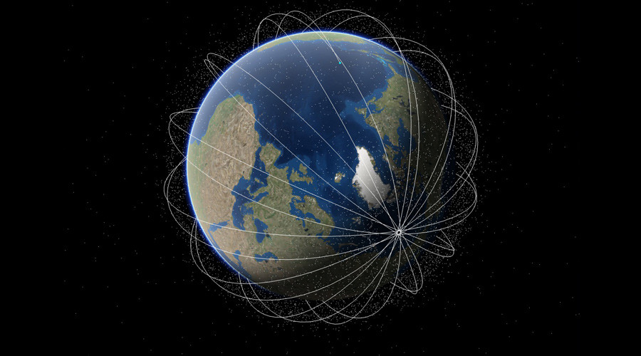 Spectacular Space Map Shows Satellites Orbiting Earth RT - World map online satellite 2015