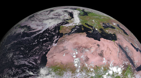 First colorful pic of Africa & Europe from EU second-gen weather sat (PHOTO)