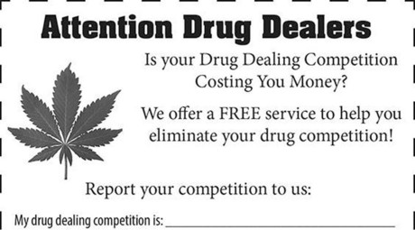 Calling dopey dealers: Kentucky sheriff's office will 'help eliminate your drug competition'