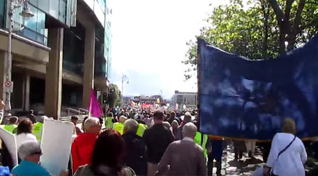 'Not gone away': Tens of thousands rally in Irish capital against water charges