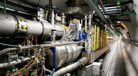 A general view of the Large Hadron Collider (LHC) experiment is seen during a media visit to the Organization for Nuclear Research (CERN) in the French village of Saint-Genis-Pouilly, near Geneva in Switzerland © Pierre Albouy