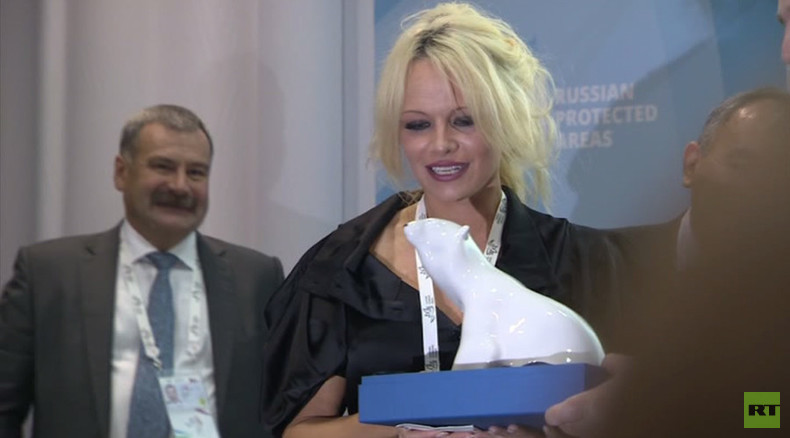 Baywatch Vladivostok: Pamela Anderson discusses environment and climate change at Russian forum