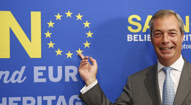 Nigel Farage launches EU 'out' campaign, poll warns he guarantees 'in' vote