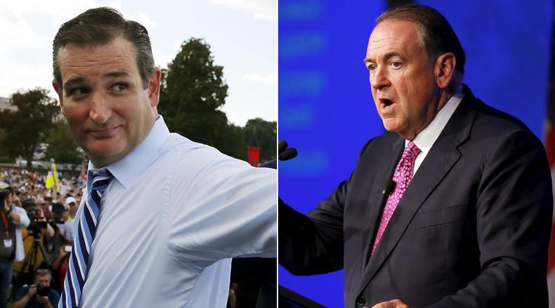 Cruz accused of 'party crashing' Huckabee's Kim Davis rally