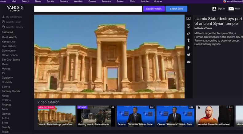 Yahoo Screen banned in Russia after requests to block ISIS video ignored