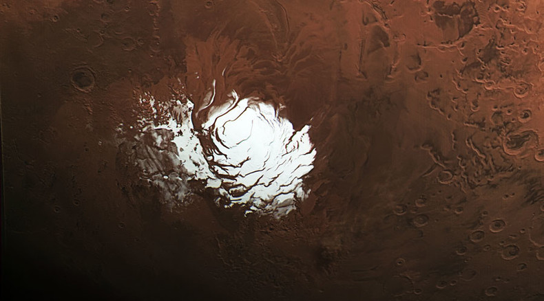 Ice-spy: Amazing new pictures of Mars' frozen polar caps