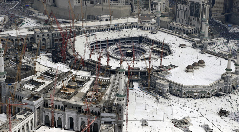 Crane crash at Grand Mosque of Makkah