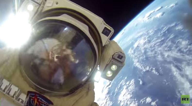 GoPro captures Russian cosmonaut duo performing spectacular spacewalk