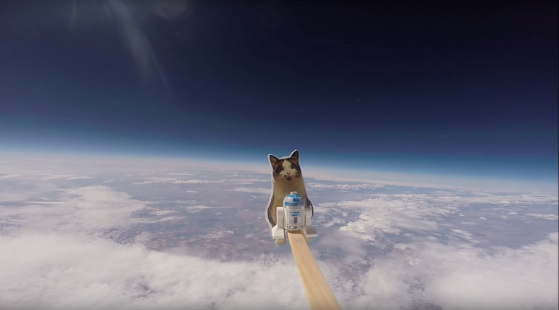 Space cadets: 2 small girls send home-made craft into stratosphere, film on GoPro (VIDEO)