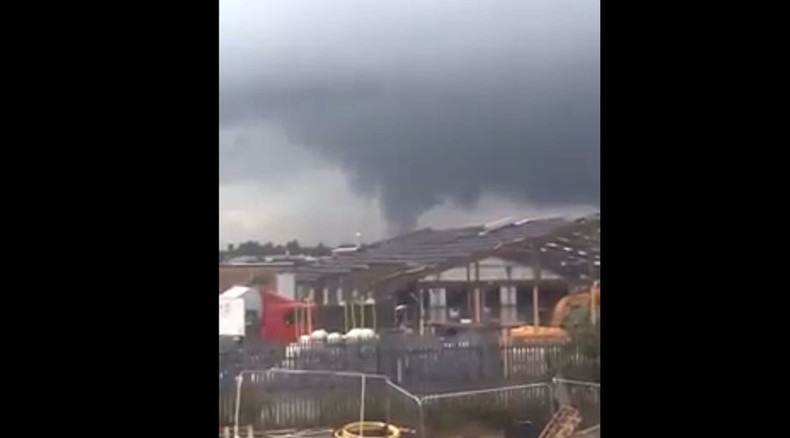 Rare mini-tornado wreaks havoc in Northampton