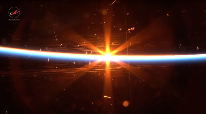 Sunset lasts mere seconds in space, Russian cosmonaut shows in ISS video