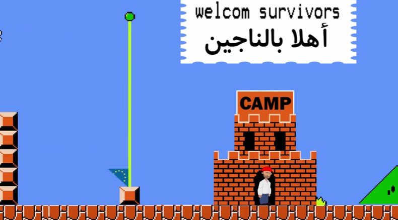 Super Mario gets involved in Syrian refugees' plight
