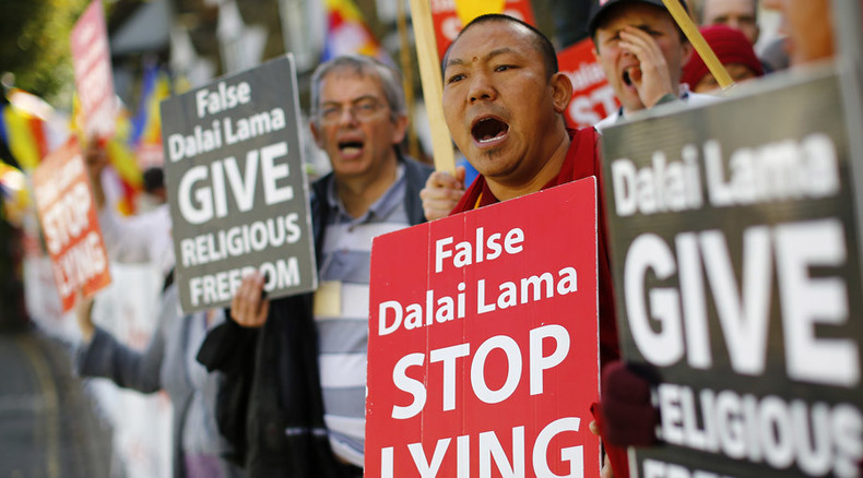 Dalai Lama's UK visit met with Buddhist sect protests